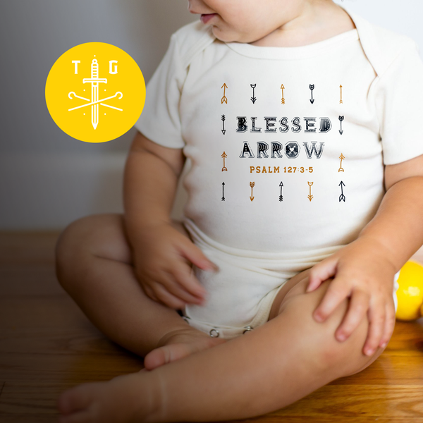 Blessed Arrows | Baby Onesie 3-24m