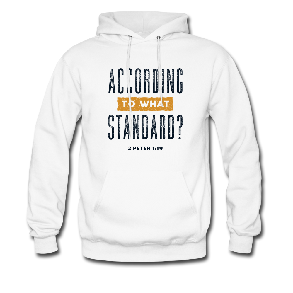 According To What Standard | Men's Hoodie - white