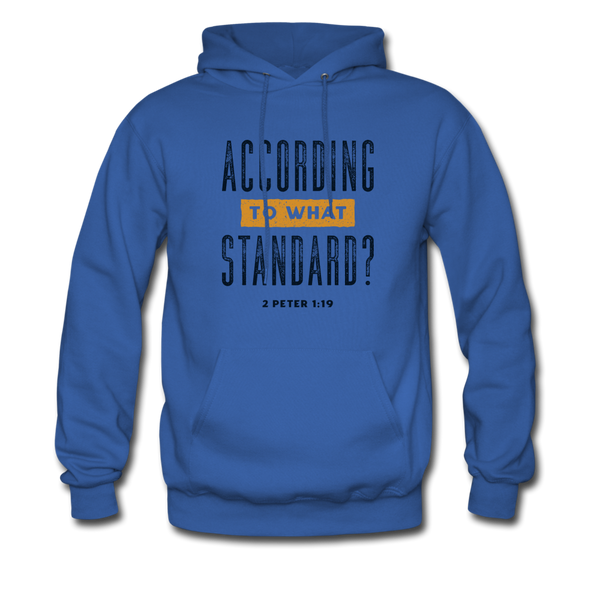 According To What Standard | Men's Hoodie - royal blue