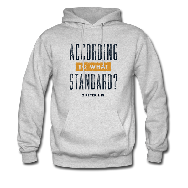 According To What Standard | Men's Hoodie - ash
