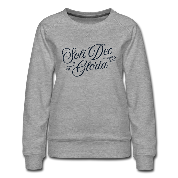 Soli Deo Gloria | Women's Premium Sweatshirt - heather gray
