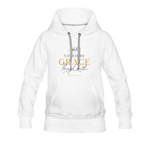 Saved by grace | Women's Premium Hoodie - white