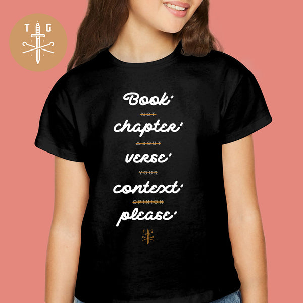 Context Please | Youth Dark T-Shirt