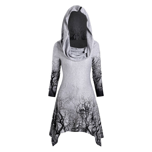 Foggy Forrest Hooded Sweatshirt-Skirt
