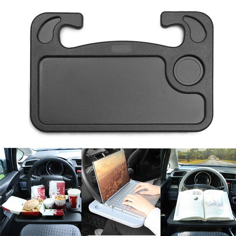 Image of BLUEKIEE™ Auto Steering Wheel Desk, Laptop, Tablet, iPad Or Notebook Car Travel Table, Food Eating Hook On Steering Wheel Tray, for Constant Travelers, Fits Most Vehicles Steering Wheels