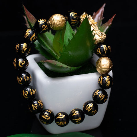 Image of BLUEKIEE™ Black Obsidian Bracelet