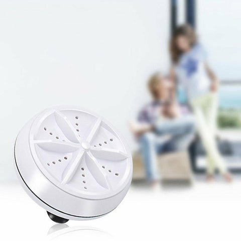BLUEKIEE™ Mini Ultrasonic Washing Machine Portable Turbo Personal Rotating Washer Convenient Travel Home Business Travel USB