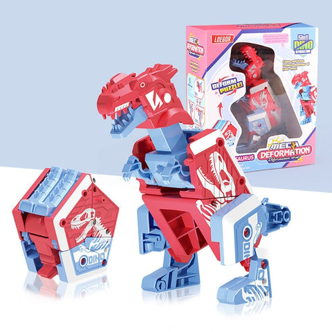 BLUEKIEE™ Deformation Dinosaur Toys Puzzle Action Deformation Car Toy Mini Deformation Vehicle Model Toy Robot Action Figures For Children
