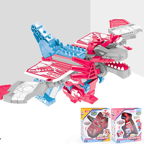 Image of BLUEKIEE™ Deformation Dinosaur Toys Puzzle Action Deformation Car Toy Mini Deformation Vehicle Model Toy Robot Action Figures For Children