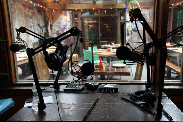 Inside the recording studio @ Roberta's