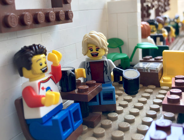 Adam Saucy + Parlor's Erin Sweeny (in LEGO)