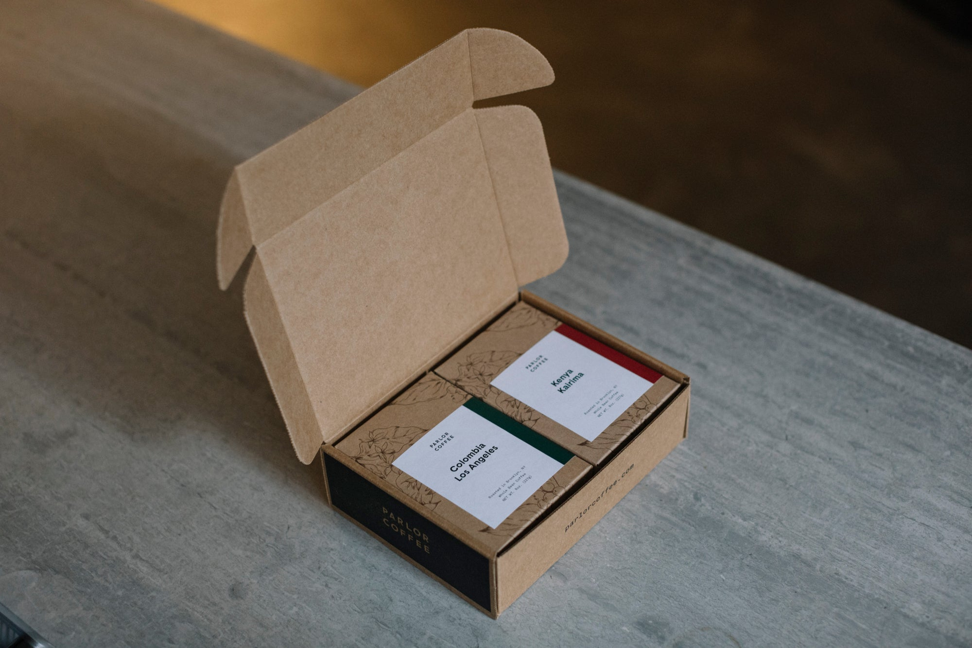 Pair of coffee boxes