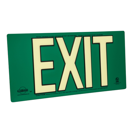 Code Compliant Photoluminescent Exit Signs