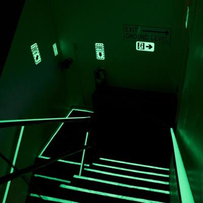 Illuminating Multipurpose Adhesive Strip, Handrail Tape, Tamper resistant Handrail tape, Safety Markings, Egress and Stairwell Solutions