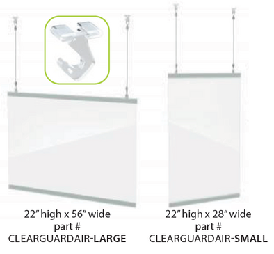 ClearGuard Sneeze Guard Protective Barrier - AIR SERIES