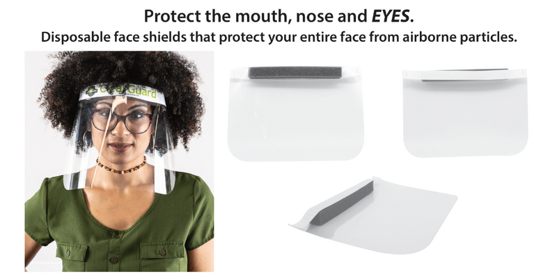 Disposable Face Shield, Disposable face shield, best safety face shield, face shields made in usa, safety face shield, face shield to wear with glasses, face shield for coronavirus protection, face shield for covid protection, anti-fogging face shield, face shield for adults, face shield for children
