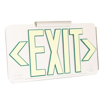 Mirrored Emergency Exit Sign, LED compliant exit sign, Alternative exit signs, energy free exit signs, Photoluminescent Exit Signs, Electric Sign Alternative, UL924 Emergency Exit Sign, Electric Exit Signs
