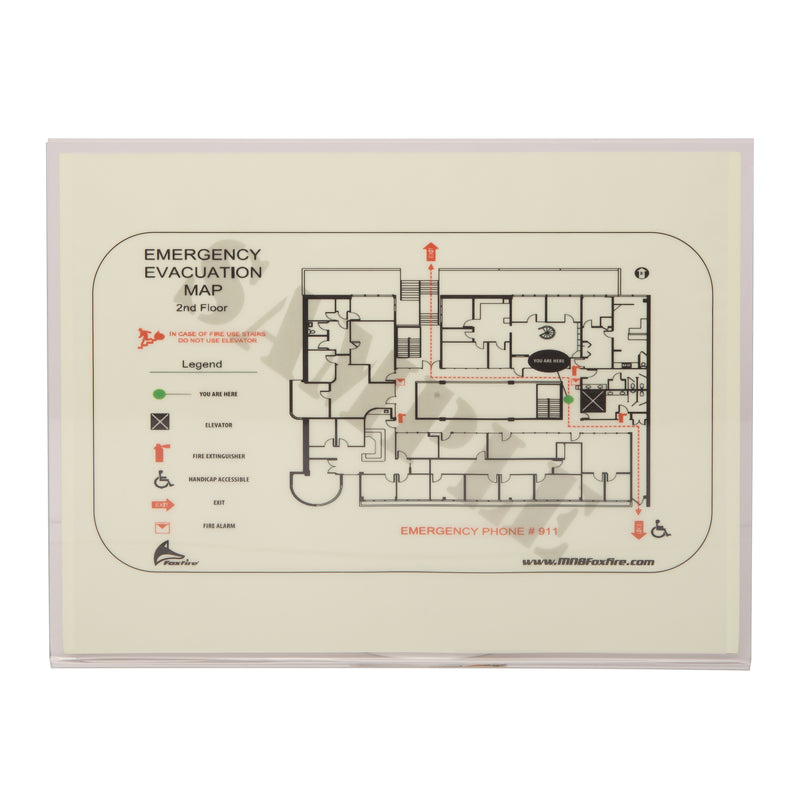 Photo-luminescent Evacuation Map Holder, Illuminating Evacuation Map Holder, Safety Markings, Egress and Stairwell Solutions