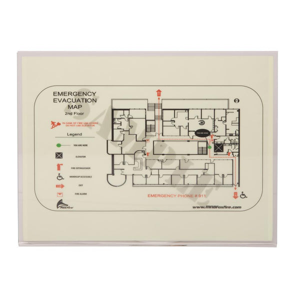 8 in. x 12 in. Photoluminescent Evacuation Map Holder