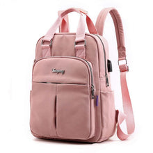 Load image into Gallery viewer, Leather Backpack Women Large Capacity