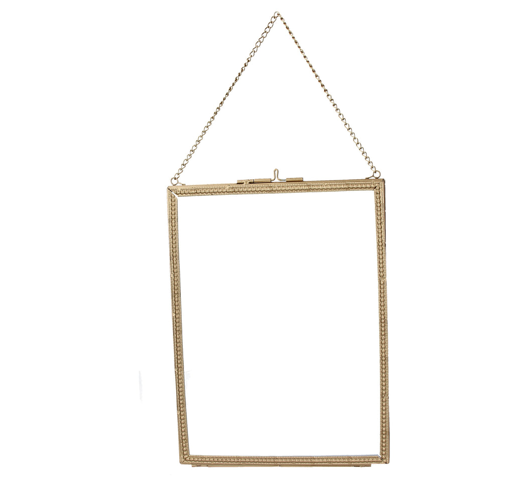 Gold Beaded Edge Hanging Picture Frame