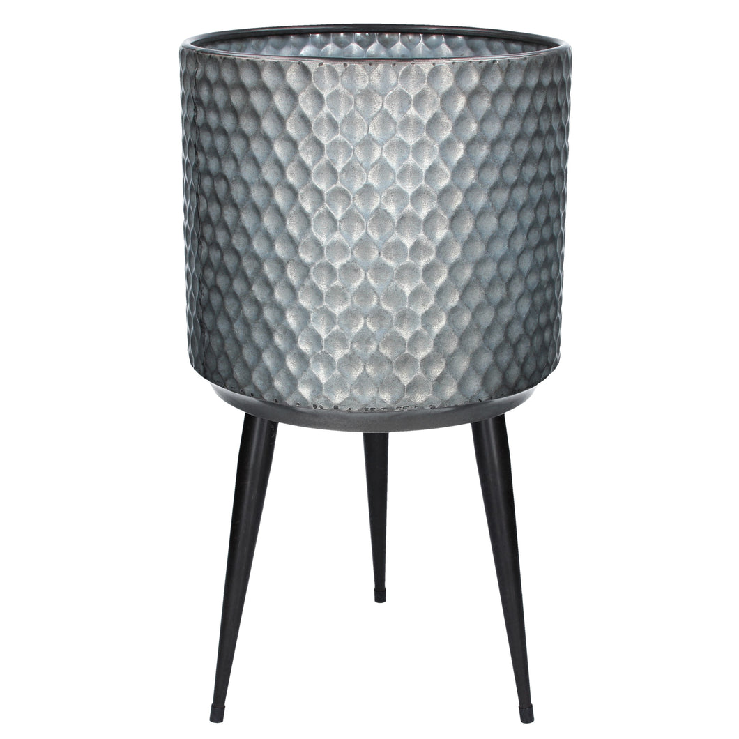 Galvanised Metal Pot Cover with Legs