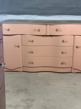 Load image into Gallery viewer, Vintage Upcycled Serpentine Dresser