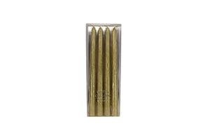 Gold Dipped Wax Taper Candle Pack of 4