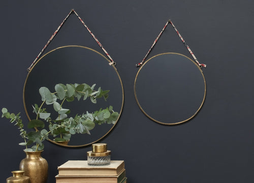 Kiko Round Mirror - Small Brass