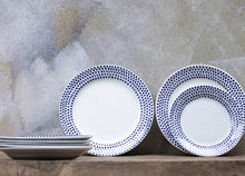 Load image into Gallery viewer, Indigo Drop Dinner Plate