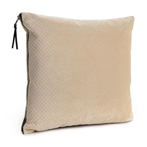 Cream Herringbone Cushion