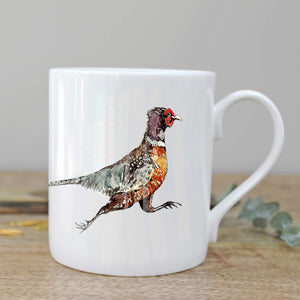 Fine Bone China Pheasant Mug