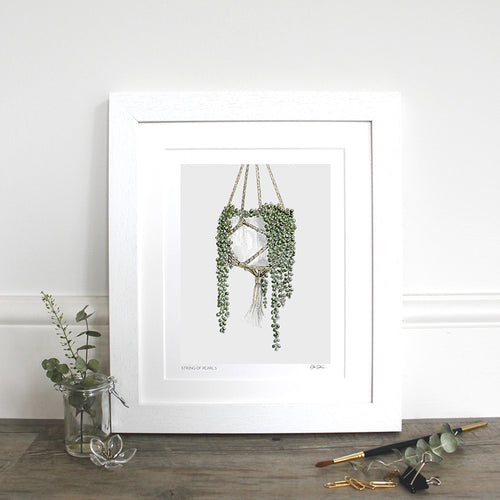 String of Pearls 10×12″ Mounted Fine Art Print