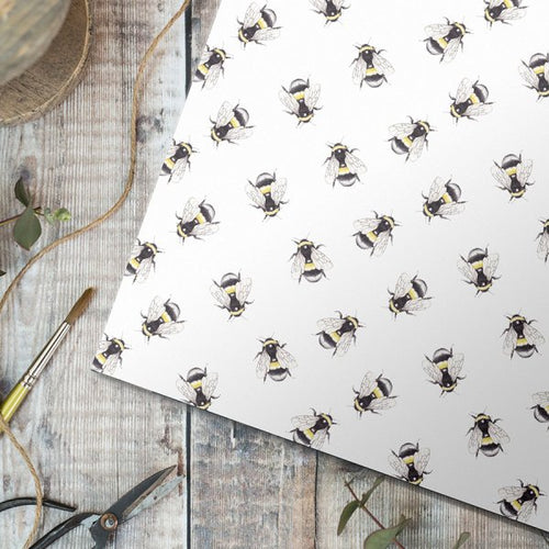Bumblebee Gift Wrap - Single Sheet