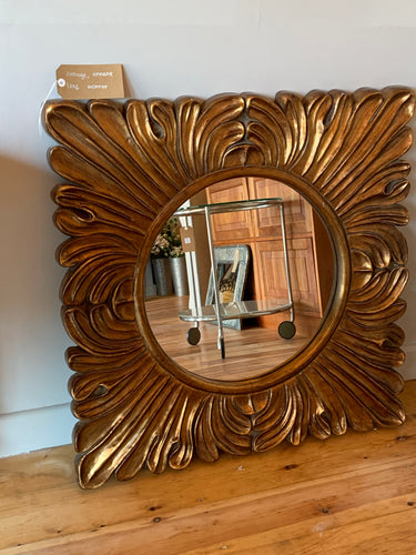 Vintage Ornate Leaf Mirror