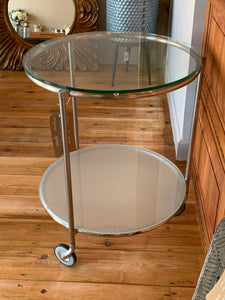 Retro 2 Tier Drinks Trolley With Original Glass