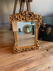 Ornate Distressed Gold Leaf Vintage Mirror