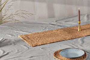 Braided Hemp Table Runner - Natural