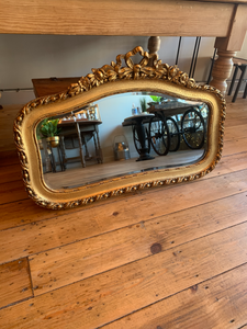 'Antique Gold' Floral Bordered Mirror