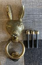 Load image into Gallery viewer, Brass Hare Door Knocker - Brass Finish