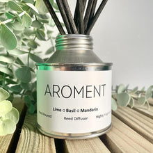 Load image into Gallery viewer, LIME, BASIL & MANDARIN HIGHLY FRAGRANCED REED DIFFUSER