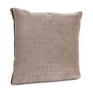 Taupe Herringbone Cushion