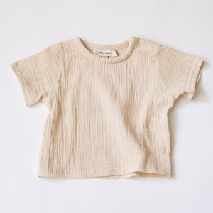 Everyday Boxy Muslin Tee - Oatmeal