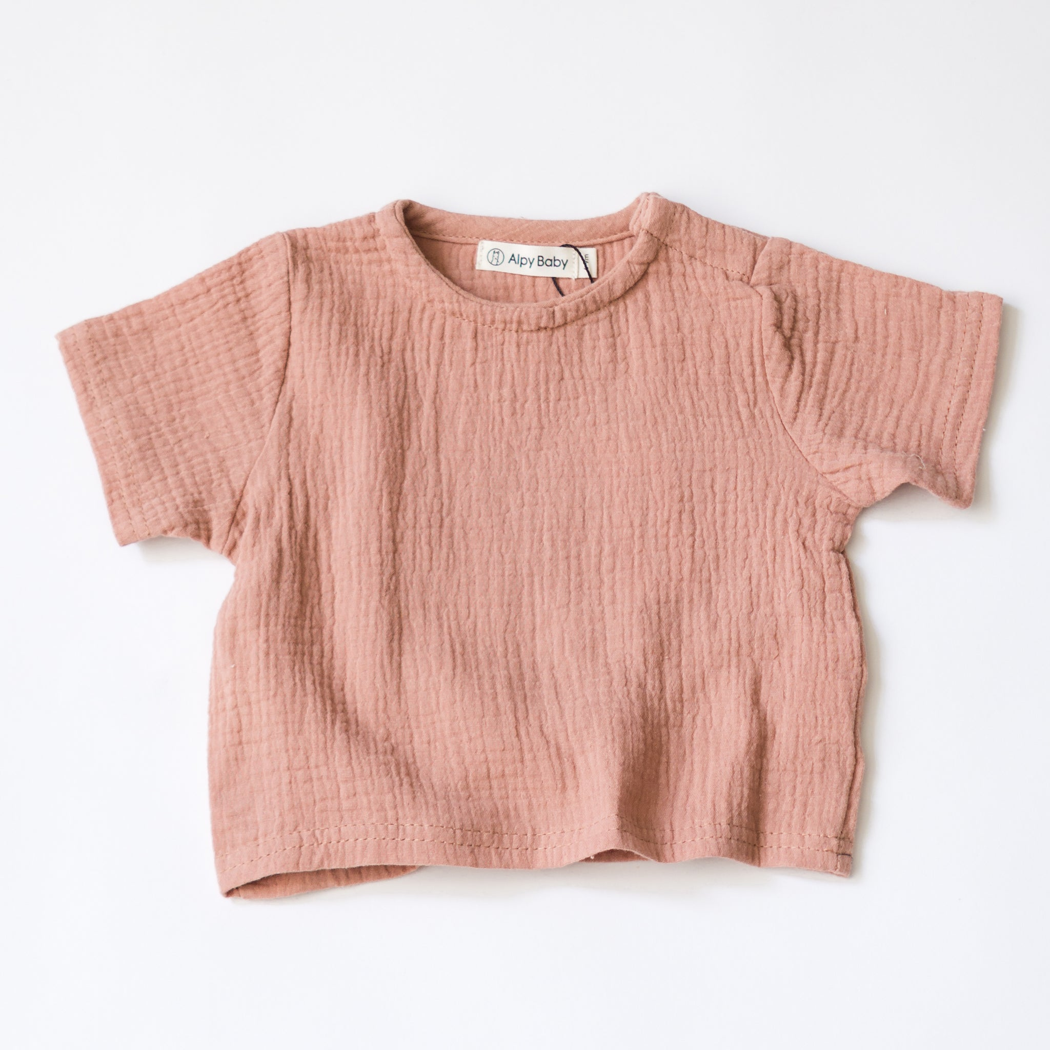 Everyday Boxy Muslin Tee - Desert Rose