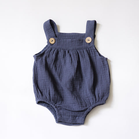 Anywhere Muslin Overalls - Blueberry
