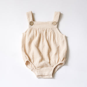 Anywhere Muslin Overalls - Oatmeal