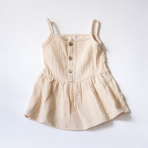 Anywhere Muslin Dress - Oatmeal