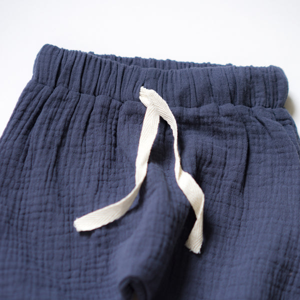 Everyday Muslin Play Pants - Blueberry