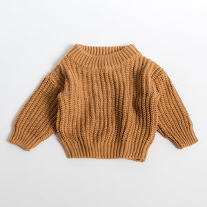 Chunky Knit Pullover - Copper