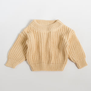 Chunky Knit Pullover - Buttermilk
